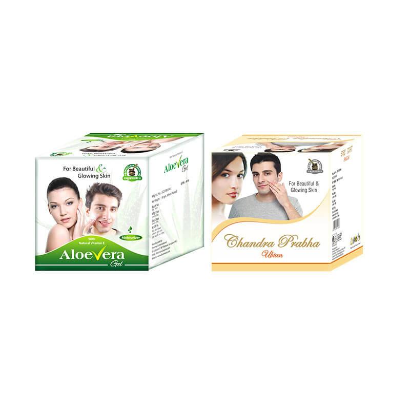 Ayurvedic Herbal Face Pack and Aloe Vera Moisturising Gel