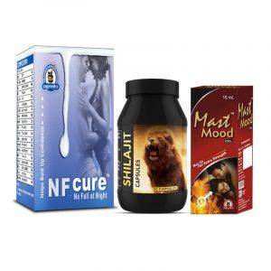 NF Cure, Shilajit Capsules and Mast Mood Oil