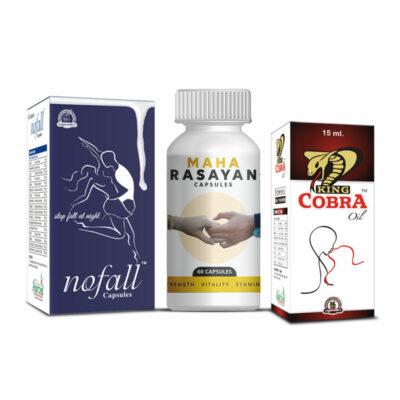 No Fall capsules, Maha Rasayan capsules and King Cobra oil