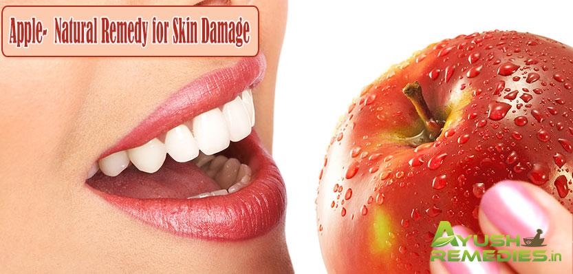 Apple Remedy for Skin Damage