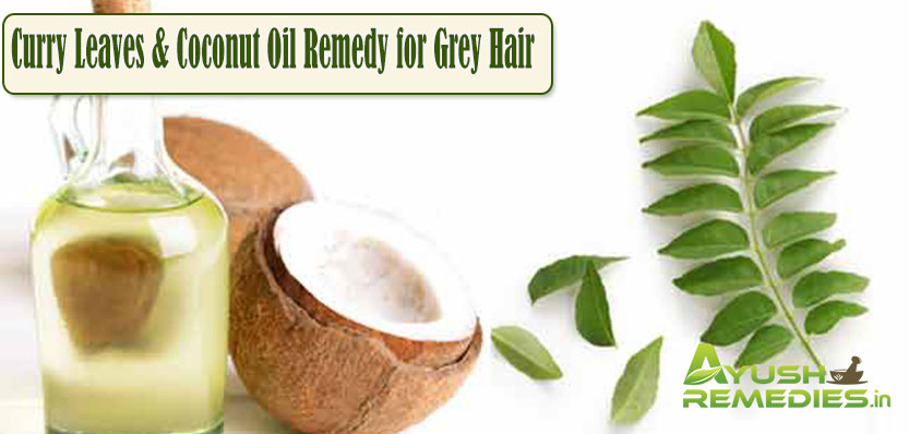 Curry Leaves and Coconut Oil Remedy for Grey Hair