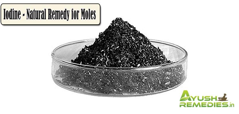 Iodine Natural Remedy for Moles