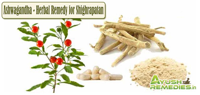 Ashwapandha Remedy for Shighrapatan