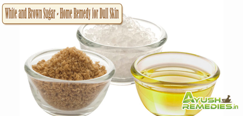 White and Brown Sugar Remedy for Dull Skin